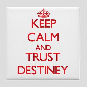 Keep Calm and TRUST Destiney Tile Coaster