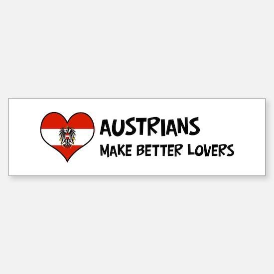 Austria - better lovers Bumper Bumper Bumper Sticker