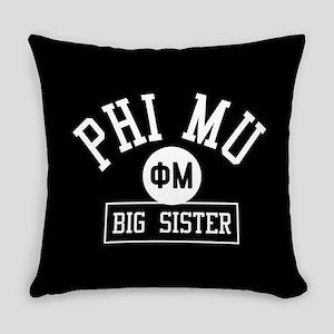 Phi Mu Big Sister Everyday Pillow