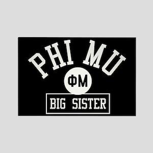 Phi Mu Big Sister Rectangle Magnet