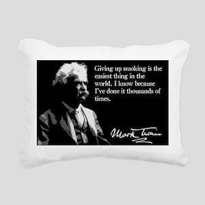110MarkTwain Rectangular Canvas Pillow