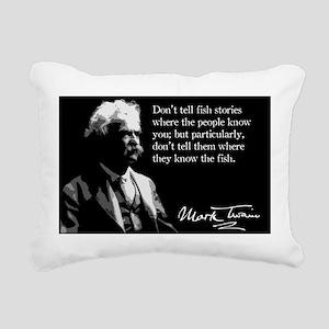 136MarkTwain Rectangular Canvas Pillow