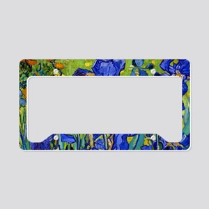 Toiletry VG Irises89 License Plate Holder