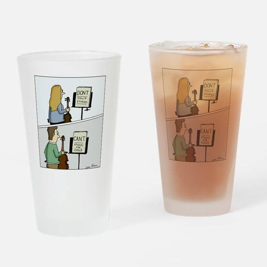 Cant and Dont Studies Drinking Glass
