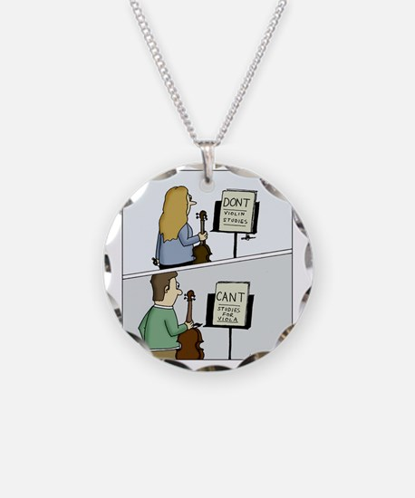 Cant and Dont Studies Necklace Circle Charm