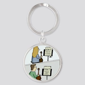 Cant and Dont Studies Round Keychain