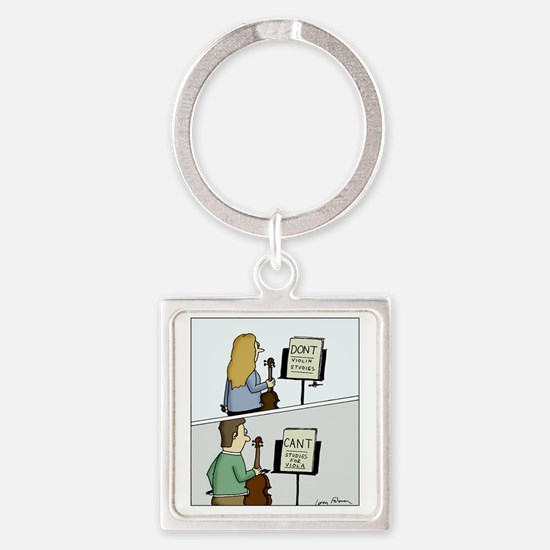 Cant and Dont Studies Square Keychain