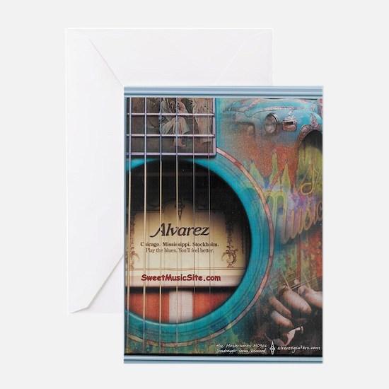 AlvarezBlue Greeting Card
