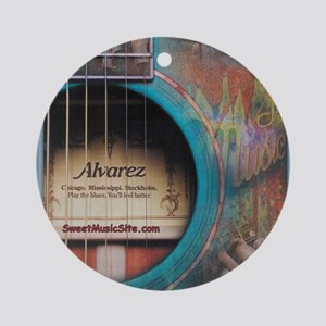 AlvarezBlue Round Ornament