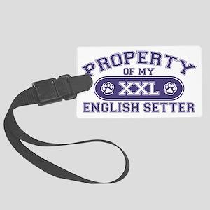 englishsetterproperty Large Luggage Tag