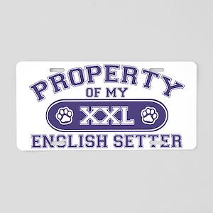 englishsetterproperty Aluminum License Plate