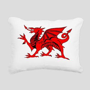 Welsh Red Dragon Rectangular Canvas Pillow
