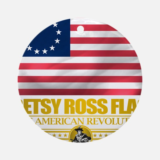 Betsy Ross (Flag 10)2 Round Ornament