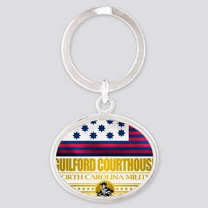 Guilford CH (Flag 10)2 Oval Keychain