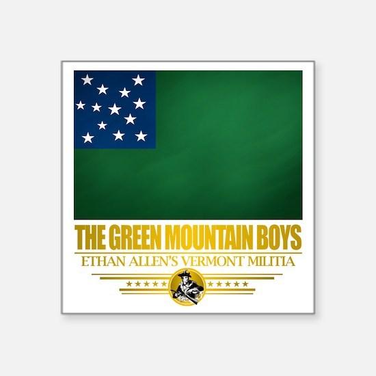 "Green Mountain (Flag 10)2 Square Sticker 3"" x 3"""