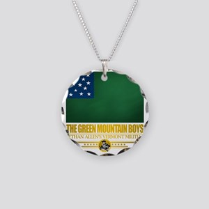 Green Mountain (Flag 10)2 Necklace Circle Charm