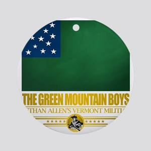 Green Mountain (Flag 10)2 Round Ornament