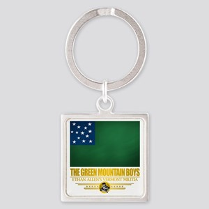 Green Mountain (Flag 10)2 Square Keychain