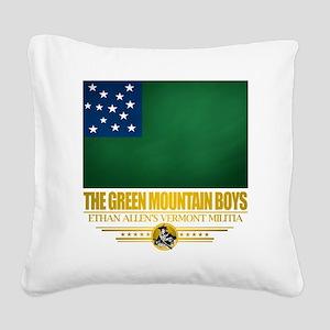 Green Mountain (Flag 10)2 Square Canvas Pillow