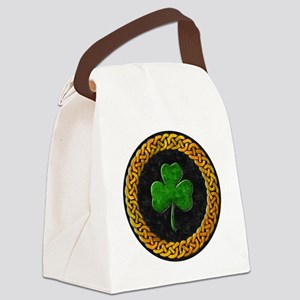 CELTIC-SHAMROCK-CIRCLE Canvas Lunch Bag