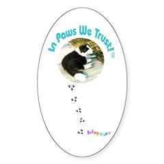 Handsome the Dog Oval Decal