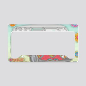 VWVan60sGroovyGlassPrint License Plate Holder