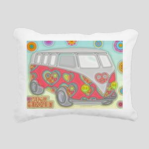 VWVan60sGroovyGlassPrint Rectangular Canvas Pillow