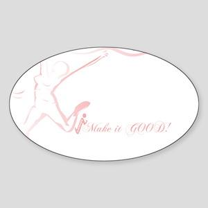 Cancer Runner Red Sticker (Oval)