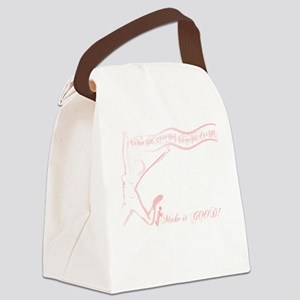 Cancer Runner Red Canvas Lunch Bag