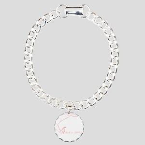Cancer Runner Red Charm Bracelet, One Charm