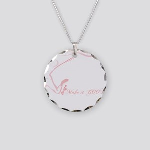 Cancer Runner Red Necklace Circle Charm