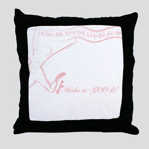 Cancer Runner Red Throw Pillow