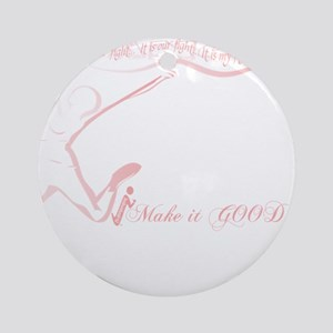 Cancer Runner Red Round Ornament