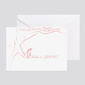 Cancer Runner Red Greeting Card