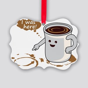 Coffee stain Picture Ornament