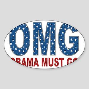omg obama must go star yard sign 1 Sticker (Oval)