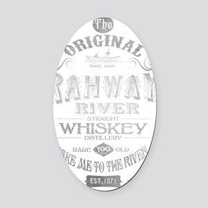 Rahway River Whiskey for White Bac Oval Car Magnet