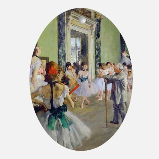 FF Degas DanceClass Oval Ornament