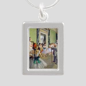 FF Degas DanceClass Silver Portrait Necklace