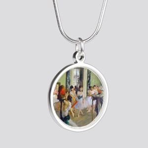 FF Degas DanceClass Silver Round Necklace