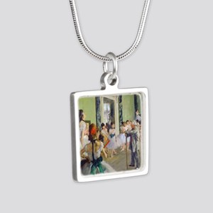 FF Degas DanceClass Silver Square Necklace