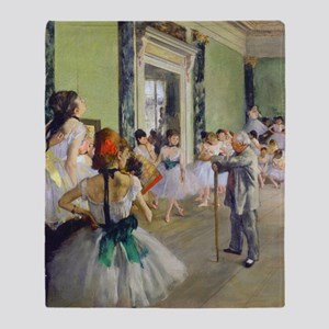 FF Degas DanceClass Throw Blanket