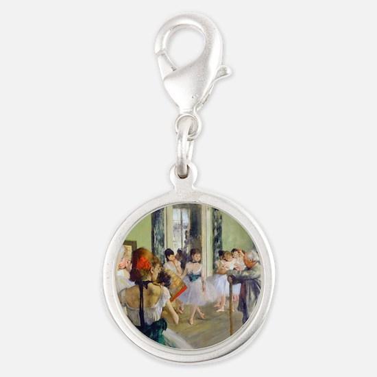 FF Degas DanceClass Silver Round Charm