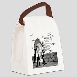 5199_mortuary_cartoon Canvas Lunch Bag
