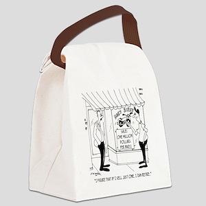 6809_business_cartoon Canvas Lunch Bag