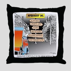 8480_quarry_cartoon Throw Pillow