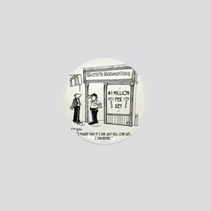 1950_locksmith_cartoon Mini Button