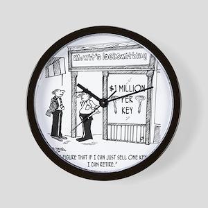 1950_locksmith_cartoon Wall Clock