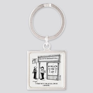 1950_locksmith_cartoon Square Keychain