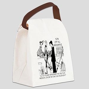 7479_music_cartoon Canvas Lunch Bag